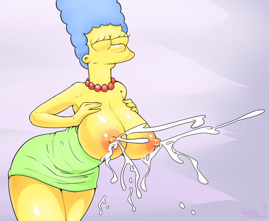 simpson boobs with marge big Cream the rabbit and tails