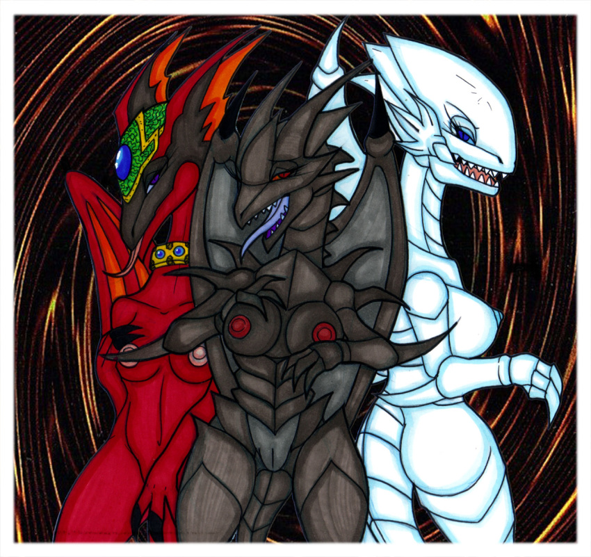 white dragon eyes nude blue Yugioh pumpking the king of ghosts